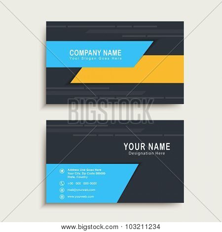Creative horizontal business card, name card or visiting card set for your professional needs.