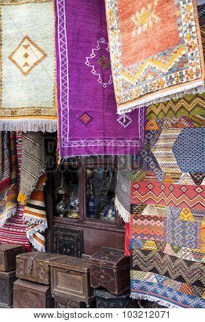 Carpets At Market In Rabat, Morocco