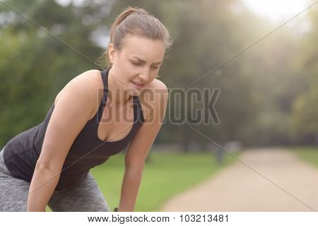 Woman Resting After Their Outdoor Exercise