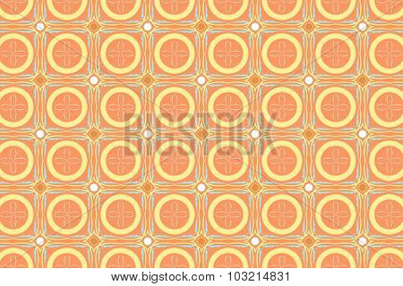 Cute Colorful Background From Circle Shape And Square Shape