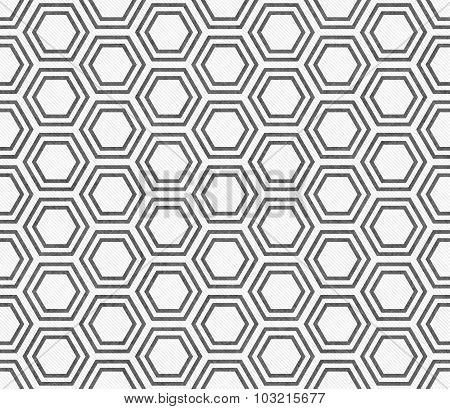Gray And White Hexagon Tile Pattern Repeat Background