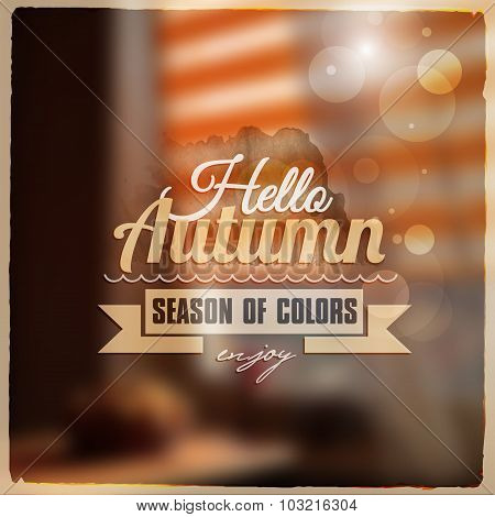Creative graphic message for your autumn design