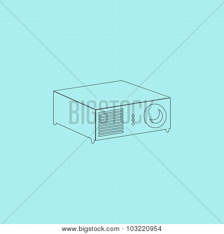 Projector sign icon