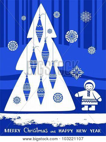 Postcard Merry Christmas And ...