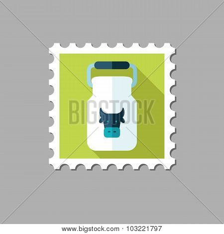 Can container for milk flat stamp
