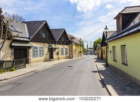 Village Of Grinzing In Vienna In Early Morning Light