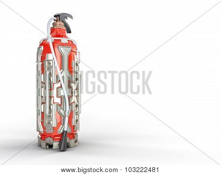 Fire extinguisher, sci-fi concept