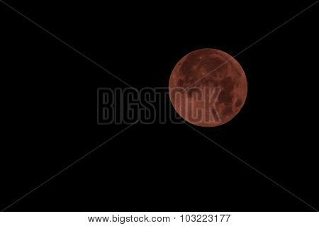 Red Full Moon In Red Color Also Called Bloodmoon