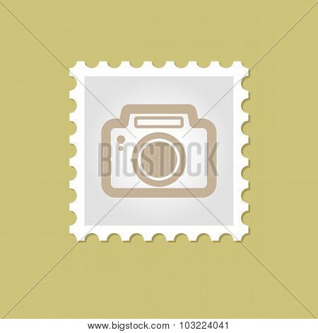 Photo Camera vector stamp