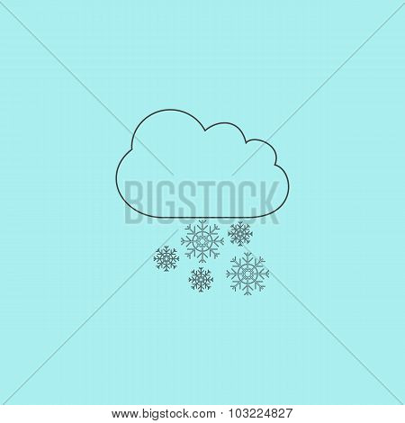 cloud and snowflakes