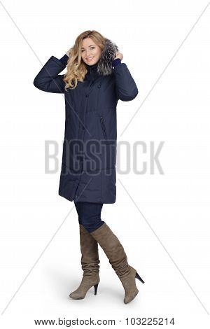 Young Woman In Long Coat