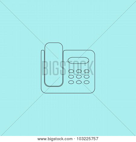 Vector fax machine illustration