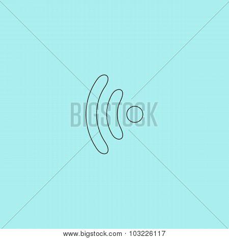 Wireless Icon, vector illustration. Flat design style