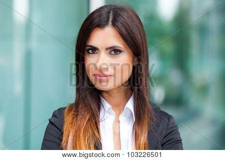 Beautiful businesswoman outdoor