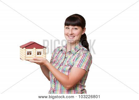 Young Woman Holding Home