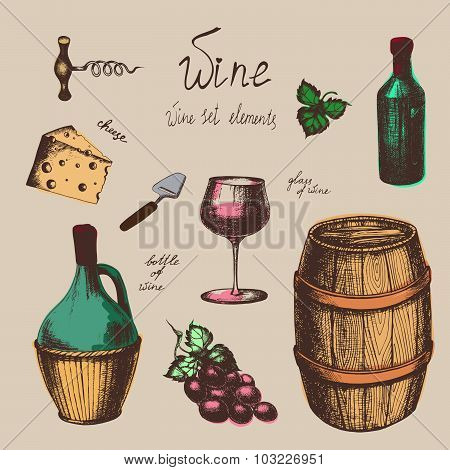Wine items collection