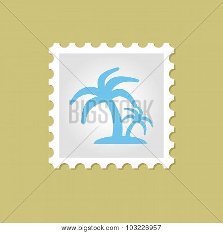 Palm vector stamp
