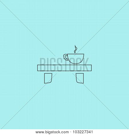 cup on the table icon
