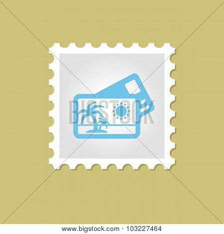 Credit Card vector stamp