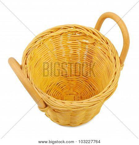 Empty wicker basket.