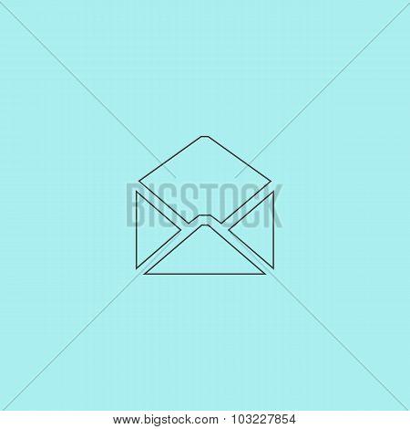 Envelope Mail icon, vector illustration. Flat design style