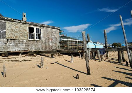 Beach house at Provincetown, Cape Cod, Massachusetts, USA.