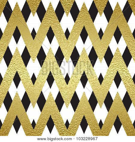 Pattern in zigzag.