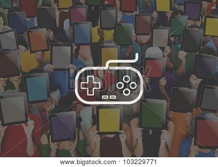 Game Controller Control Leisure Fun Technology Joystick Concept