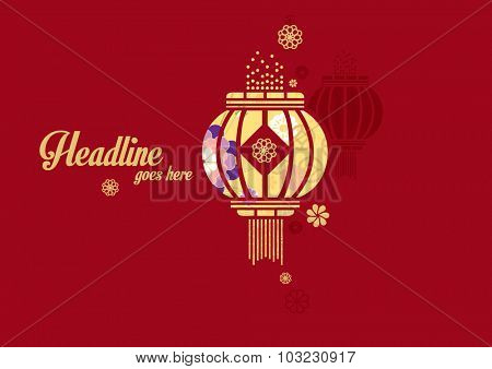 Vector of abstract oriental background