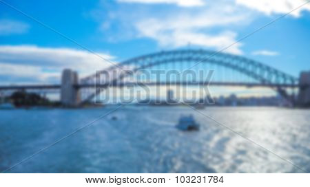 Abstract blur Australian Sydney Harbour bridge