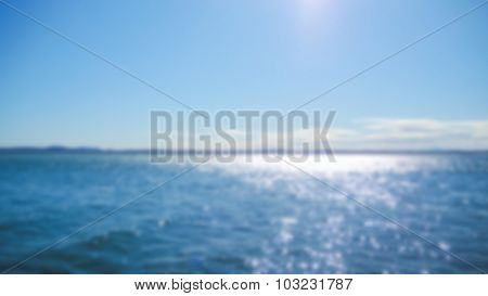 Abstract blur sea background