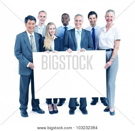 Business People Happiness Banner Copy Space Concept