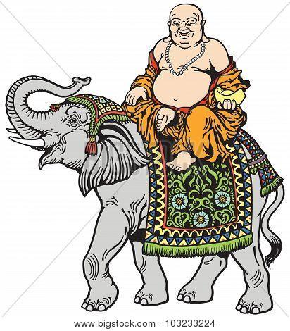 buddha and elephant