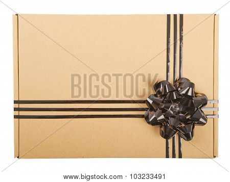 Gift box with ribbon bow and.