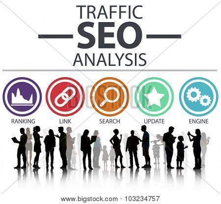 Search Engine Optimization Analysis Information Data Concept