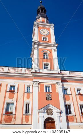 Baroque Town Hall with clock tower