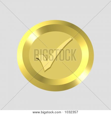 Gold Check Icon