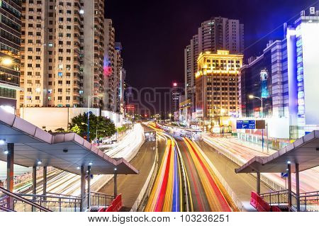street and apartment blocks of guangzhou in China