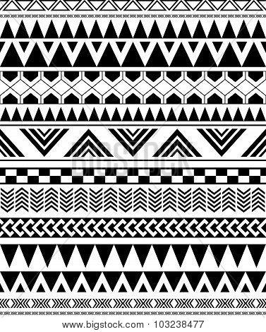 Geometric Seamless Pattern In Native Americans