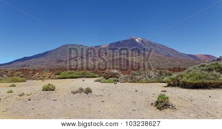 Mount Teide Vulcano In National Park, Tenerife, Canary Islands, Spain (the Highest Point Above Sea L