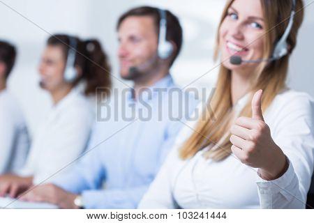 Attractive Call Center Operator