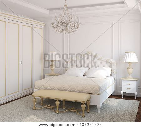 Classic Bedroom Interior.