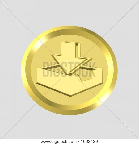 Gold Inbox Icon