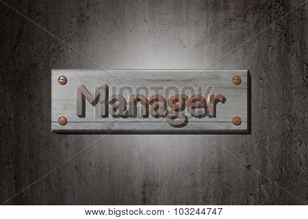 Manager Placard