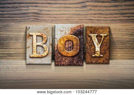 Boy Concept Letterpress Theme