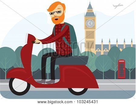 Londoner On A Scooter