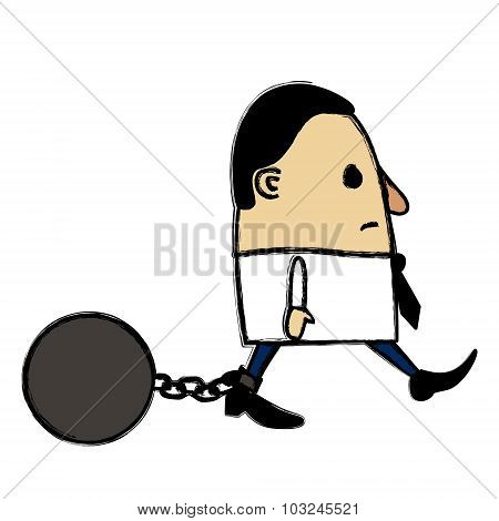 Captive Businessman