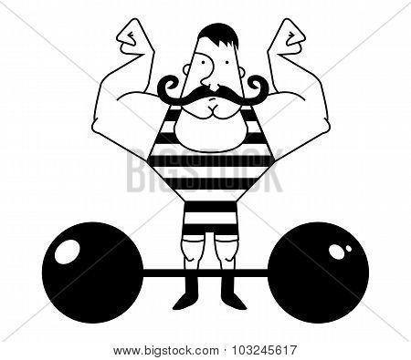 Circus athlete. Contour