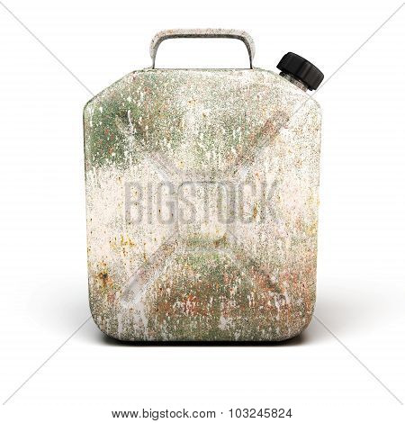 Old Rusty Canister For Petrol