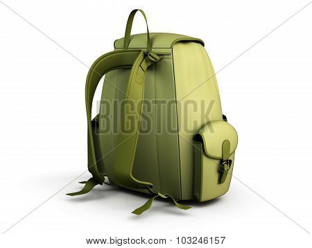 Travel Backpack Isolated On White Background.